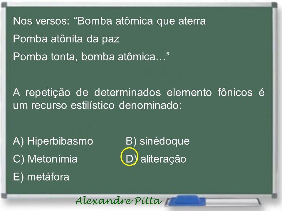 Nos versos: Bomba atômica que aterra