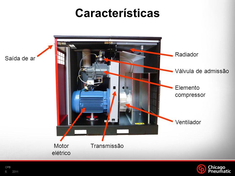 Características Radiador Saída de ar Válvula de admissão