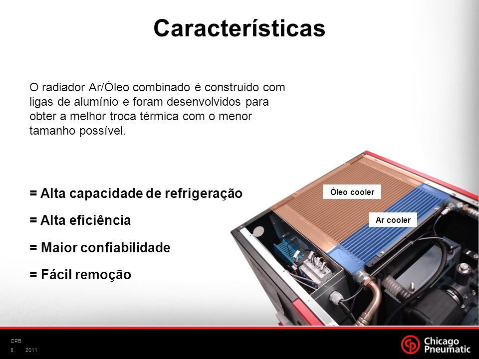 Características = Alta capacidade de refrigeração = Alta eficiência