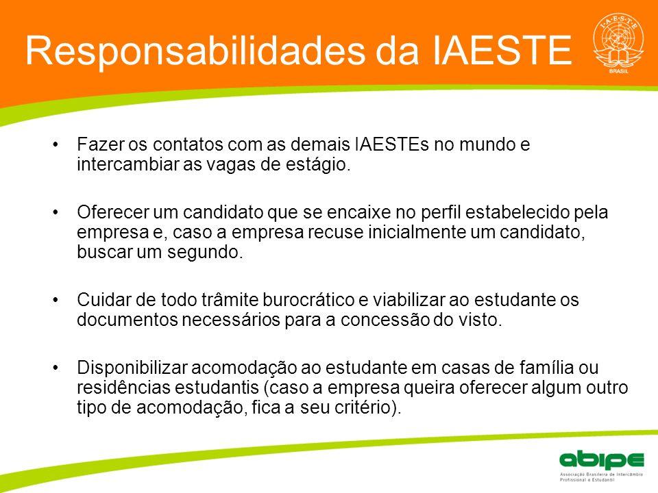 Responsabilidades da IAESTE