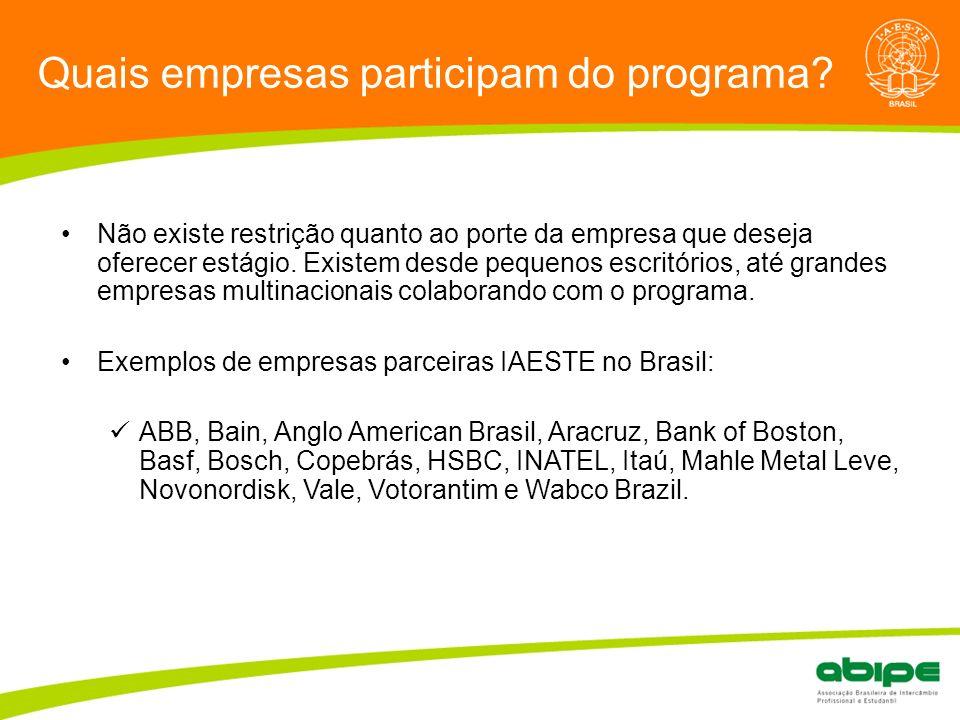 Quais empresas participam do programa
