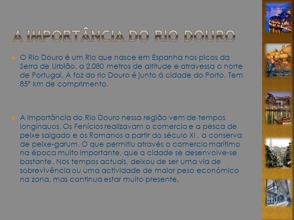 A importância do RIO DOURO
