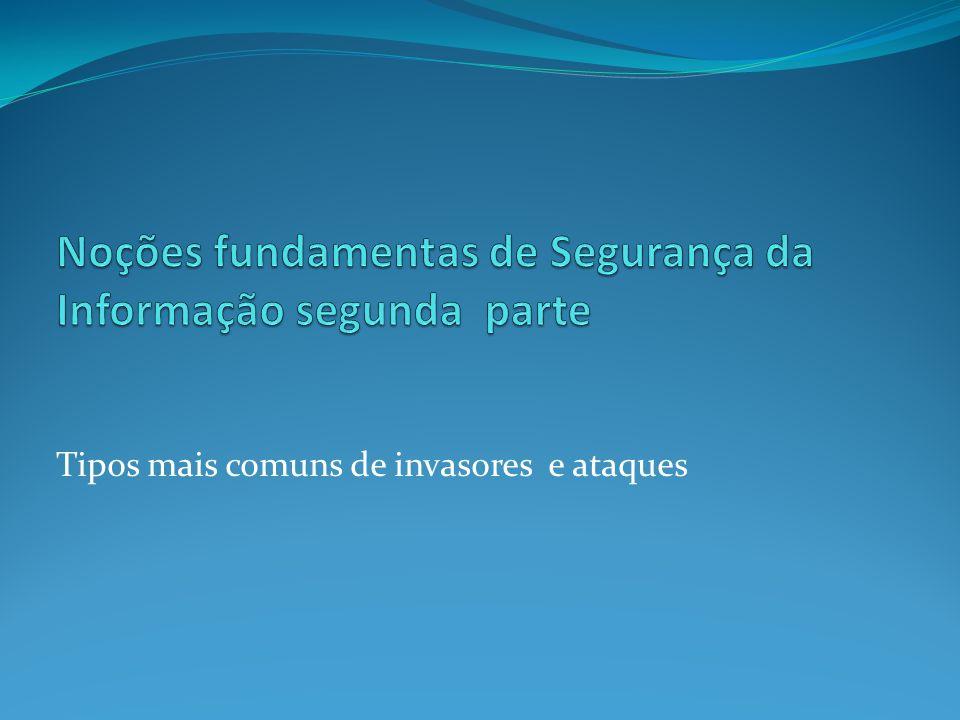 Noções fundamentas de Segurança da Informação segunda parte