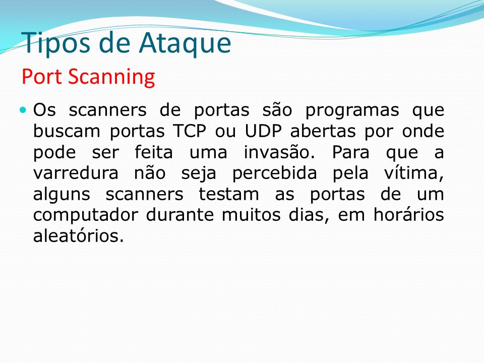 Tipos de Ataque Port Scanning