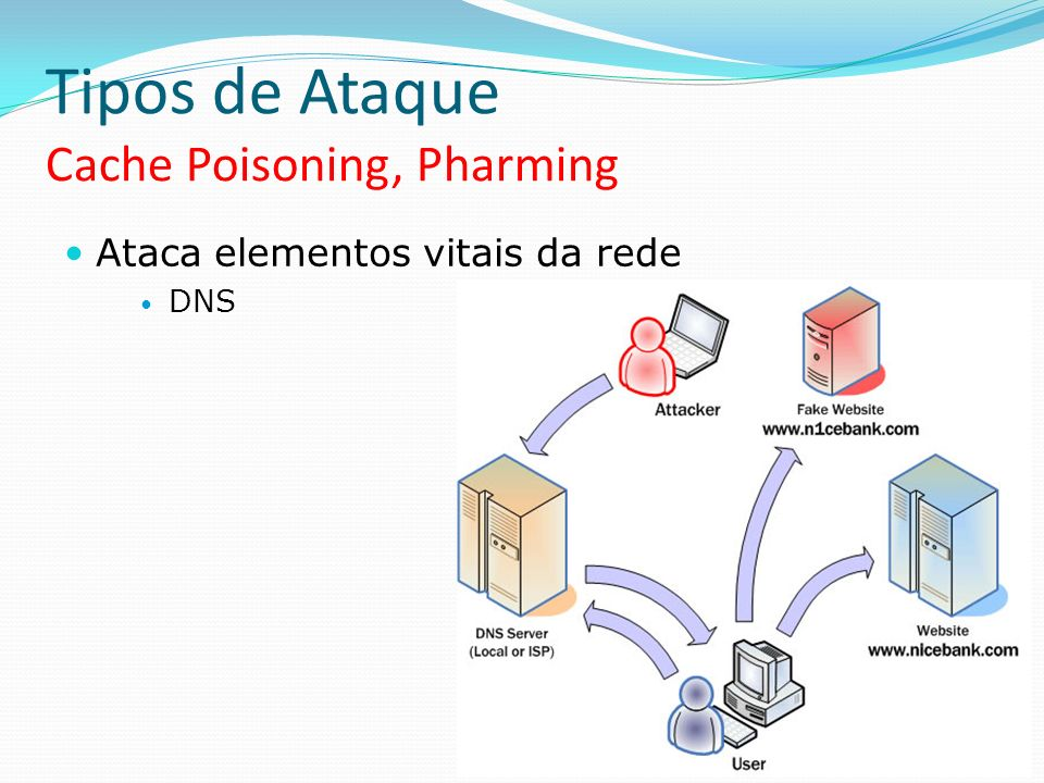 Tipos de Ataque Cache Poisoning, Pharming