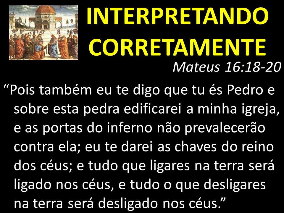 INTERPRETANDO CORRETAMENTE