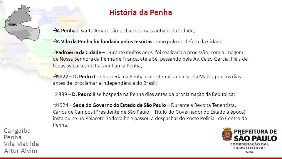 História da Penha Cangaíba Penha Vila Matilde Artur Alvim