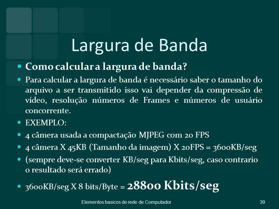 Largura de Banda Como calcular a largura de banda