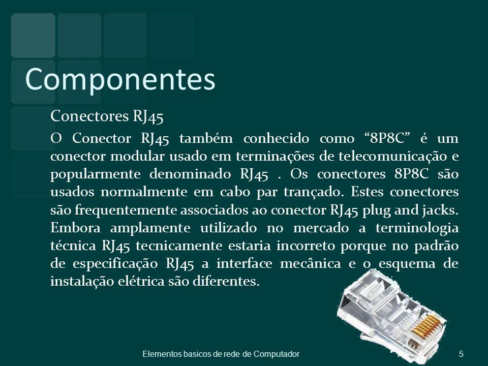 Componentes Conectores RJ45