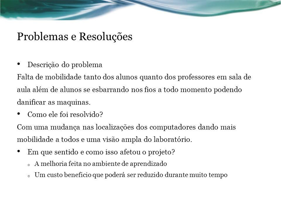 Problemas e Resoluções