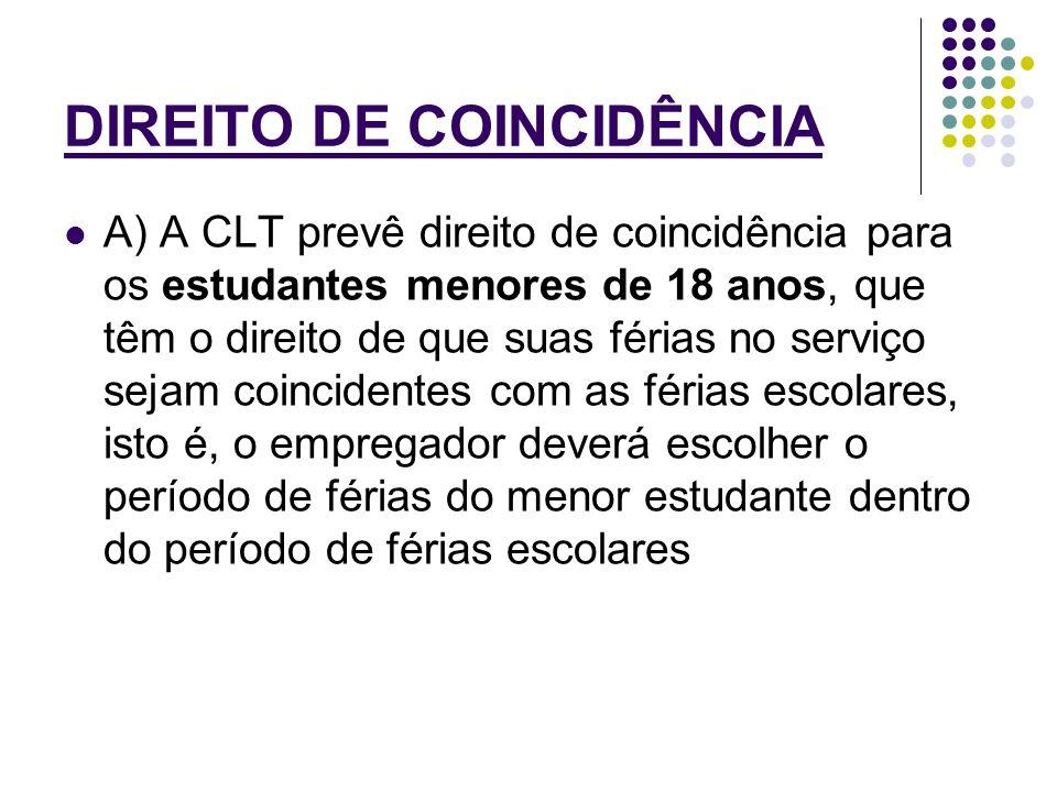 DIREITO DE COINCIDÊNCIA