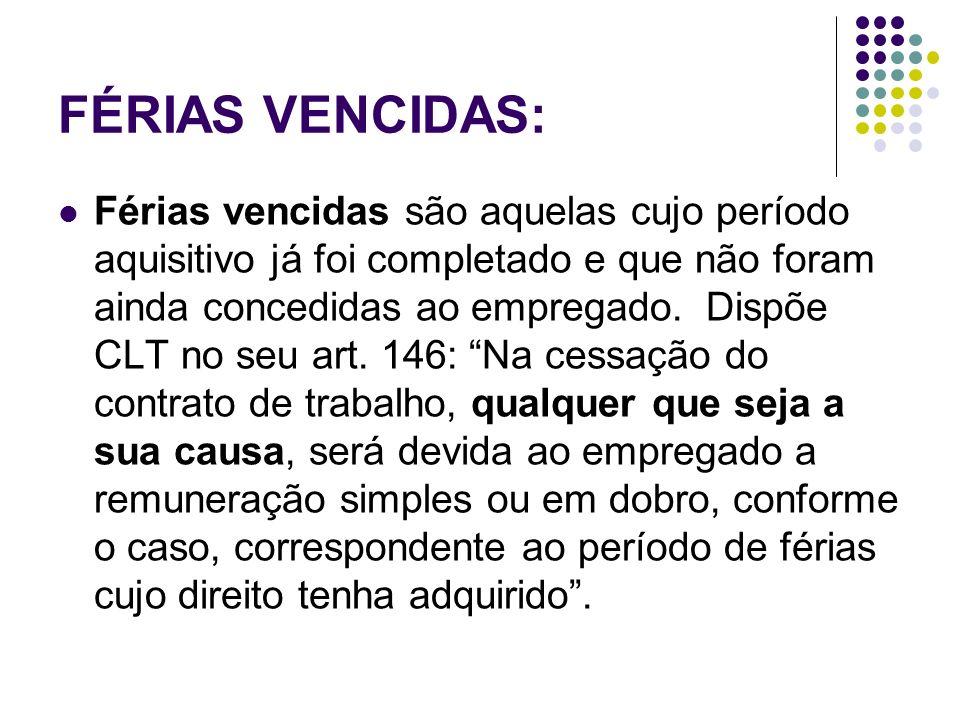 FÉRIAS VENCIDAS: