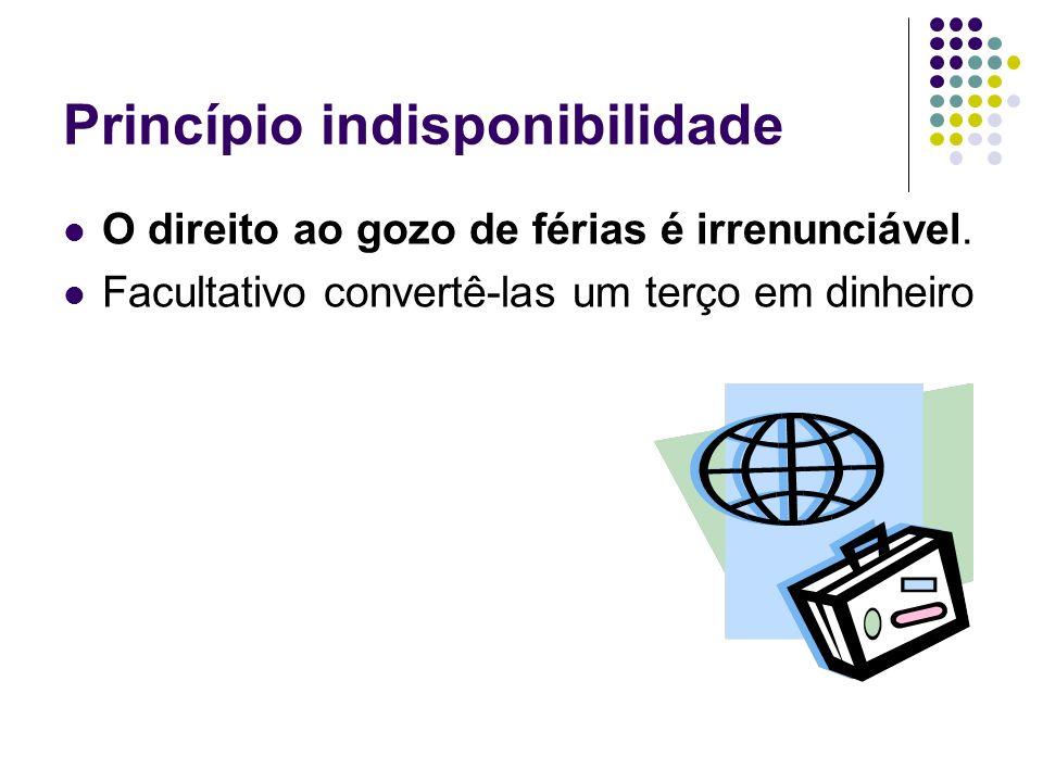 Princípio indisponibilidade