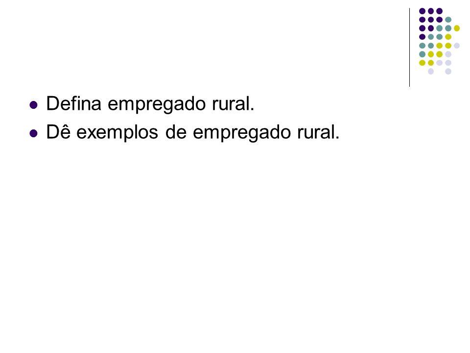Defina empregado rural.