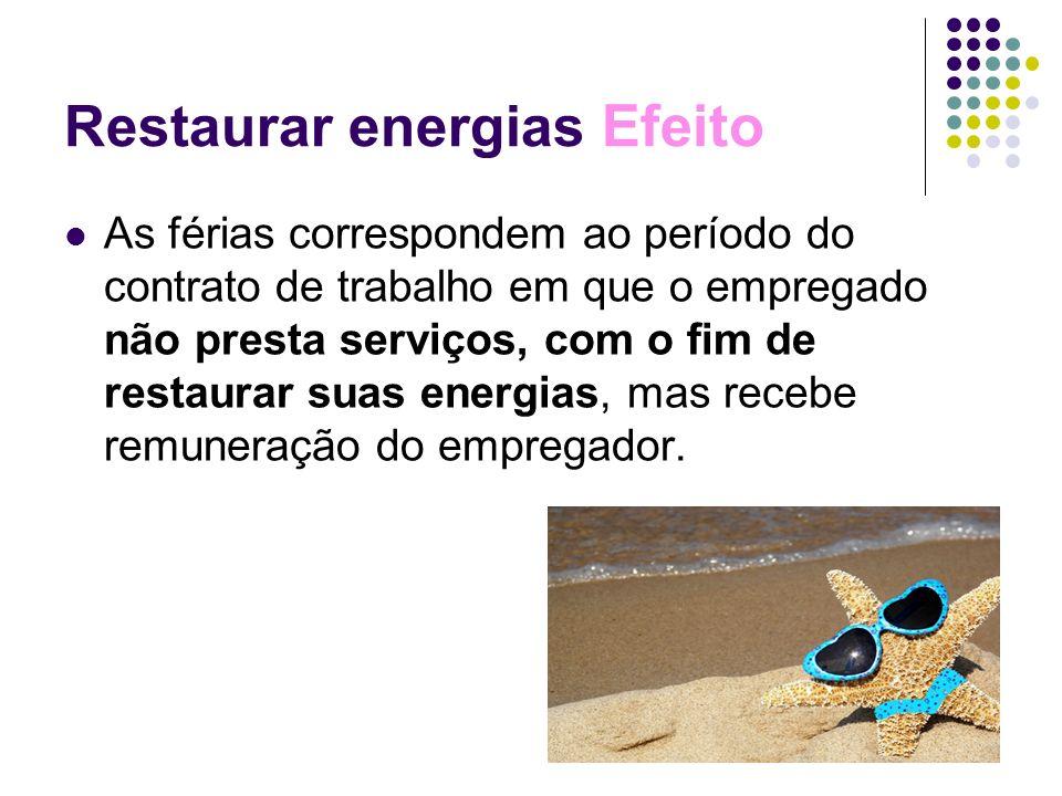 Restaurar energias Efeito