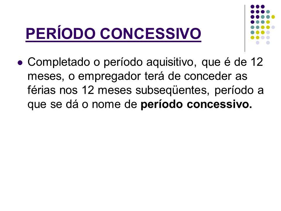 PERÍODO CONCESSIVO