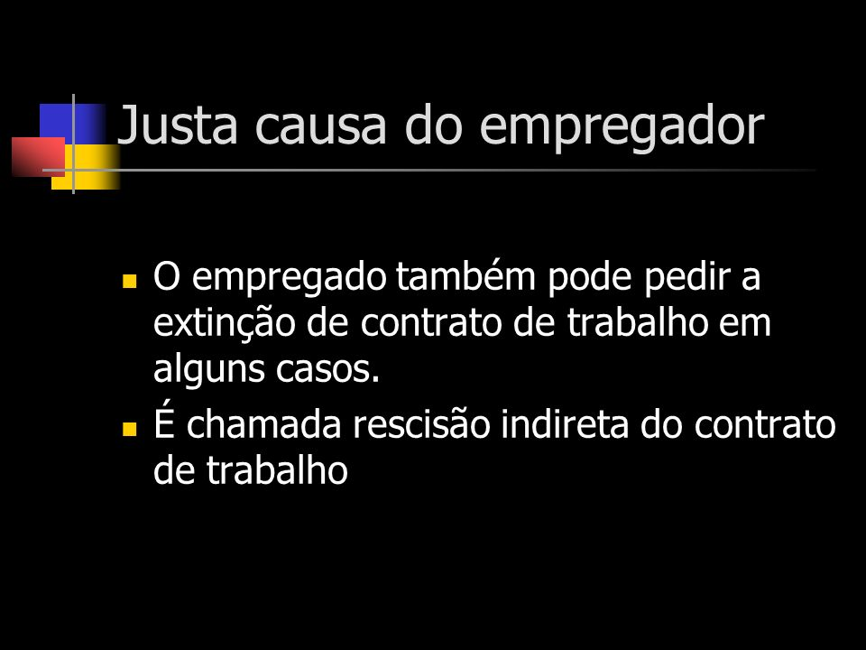 Justa causa do empregador
