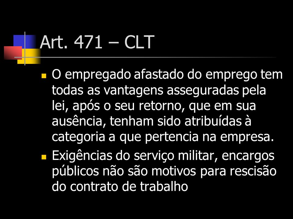 Art. 471 – CLT
