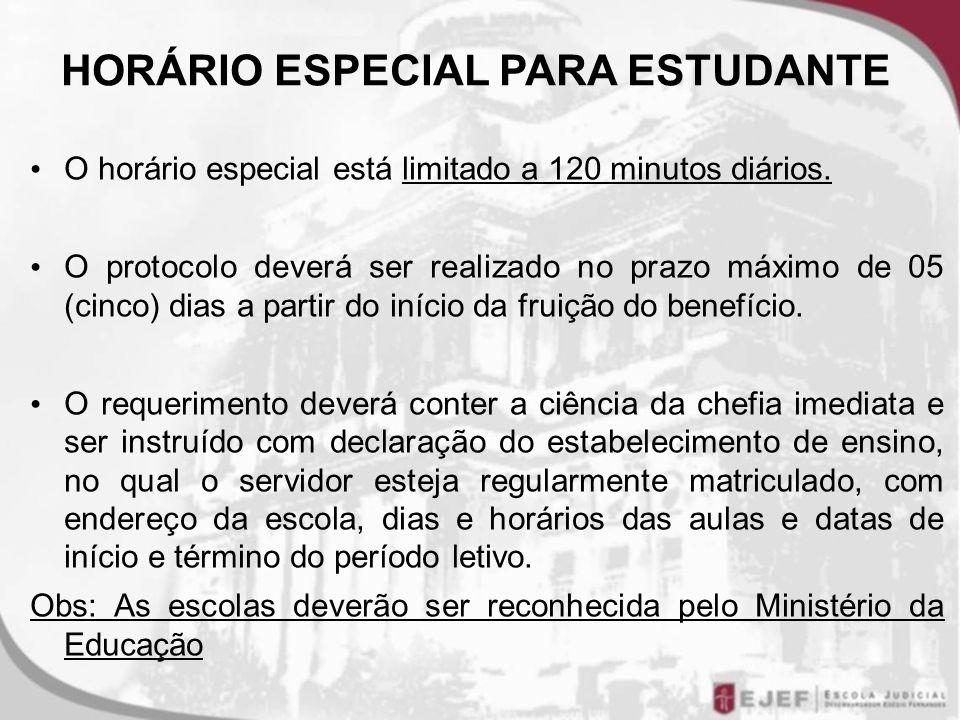 HORÁRIO ESPECIAL PARA ESTUDANTE