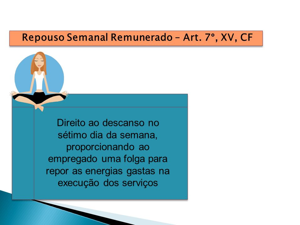 Repouso Semanal Remunerado – Art. 7°, XV, CF