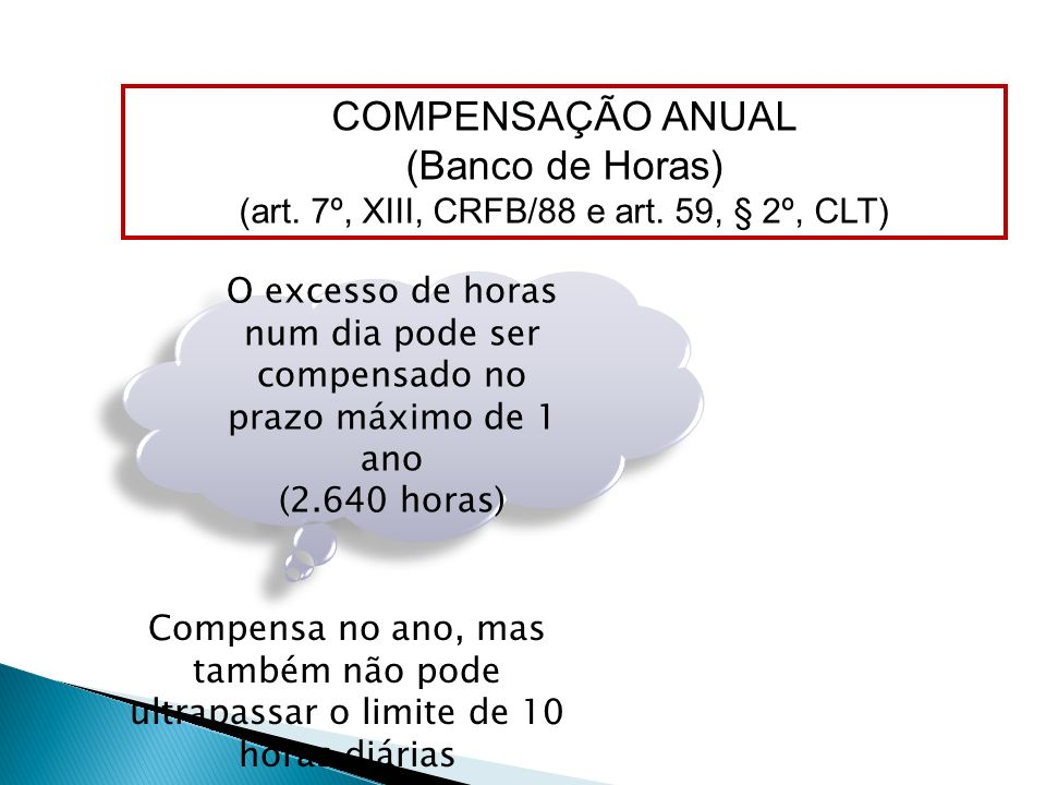 (art. 7º, XIII, CRFB/88 e art. 59, § 2º, CLT)