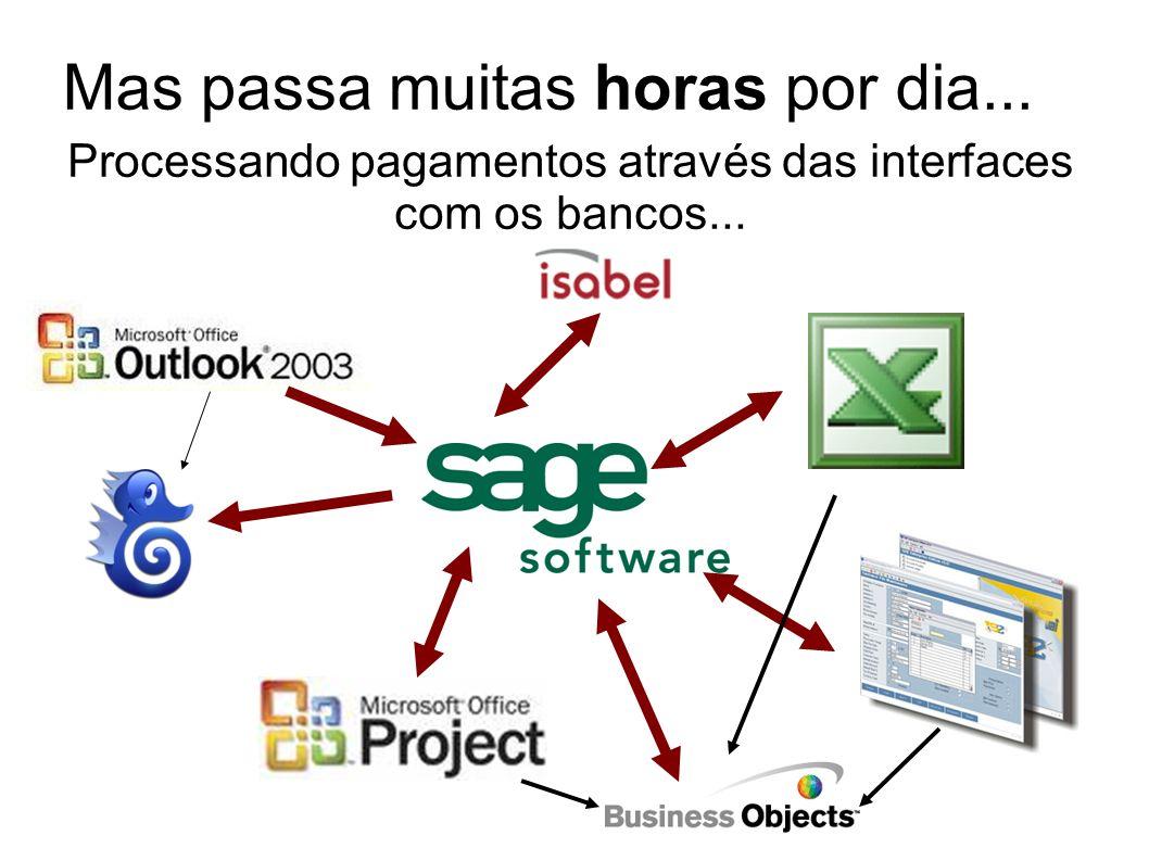 Processando pagamentos através das interfaces com os bancos...