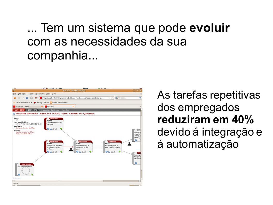 ... Tem um sistema que pode evoluir com as necessidades da sua companhia...
