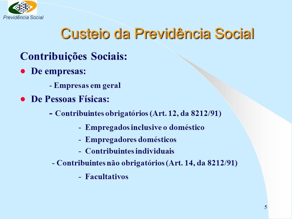 Custeio da Previdência Social