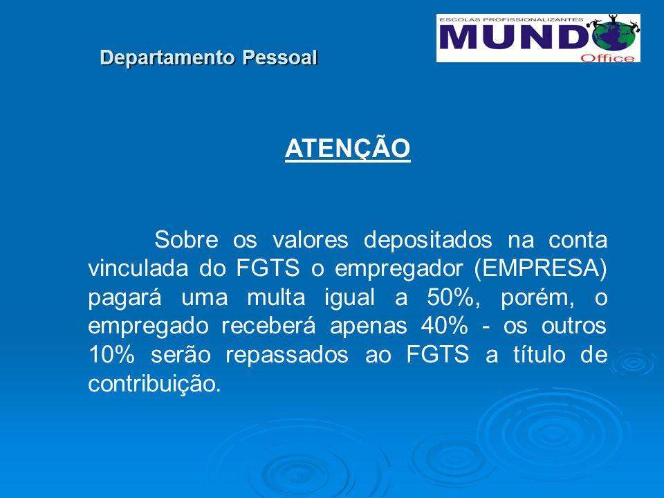 ATENÇÃO Departamento Pessoal