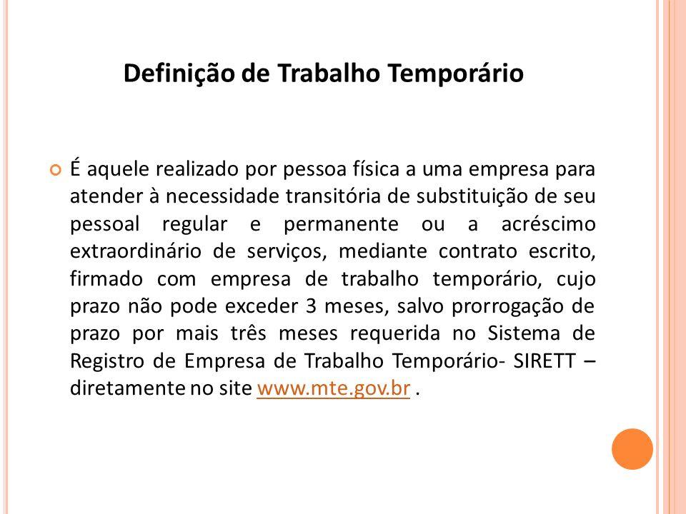 Definição de Trabalho Temporário
