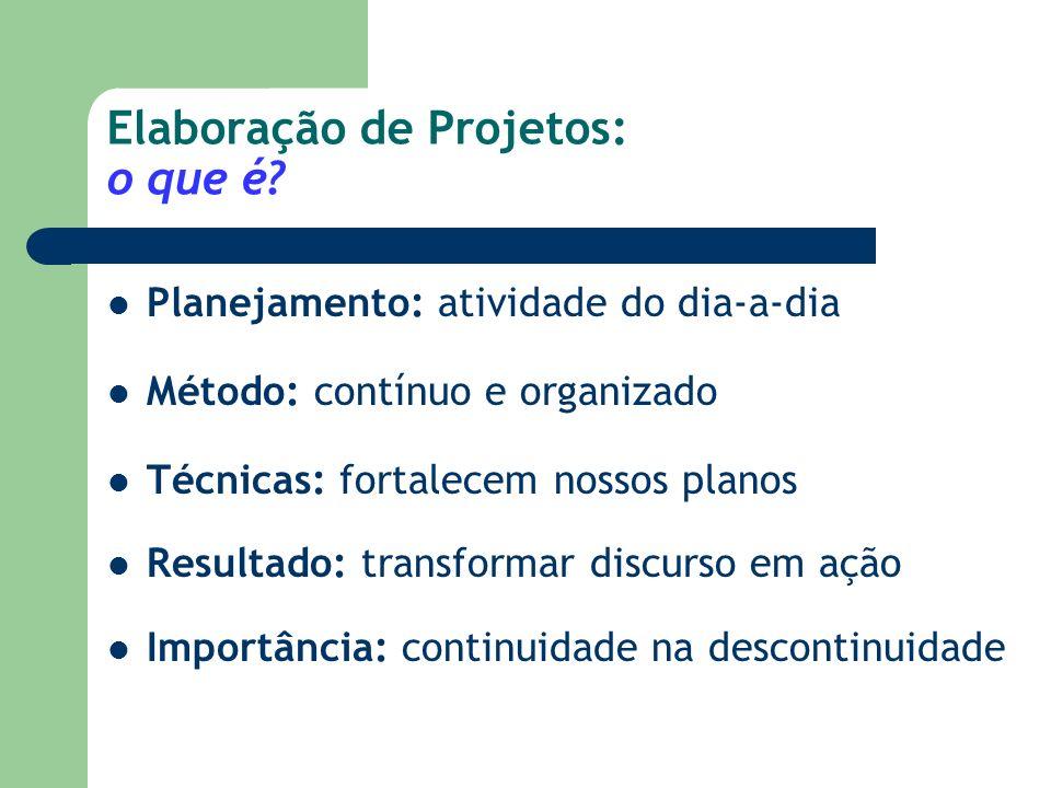 Elaboração de Projetos: o que é
