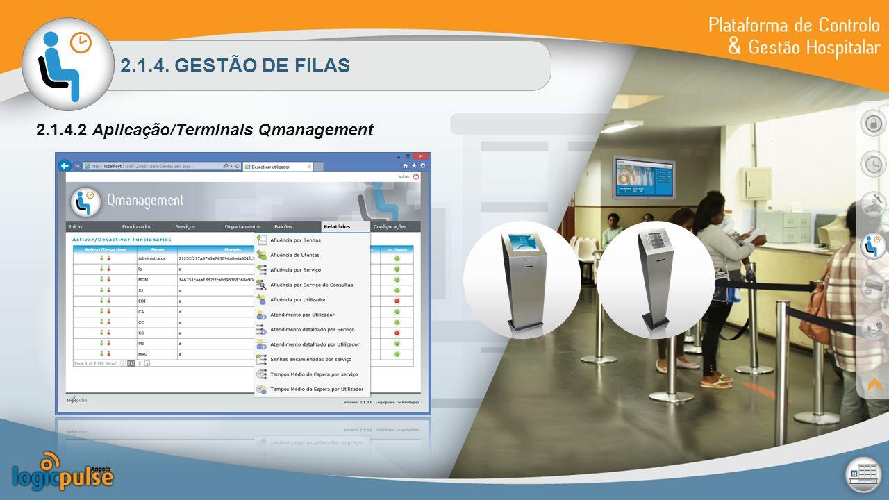 2.1.4. GESTÃO DE FILAS 2.1.4.2 Aplicação/Terminais Qmanagement