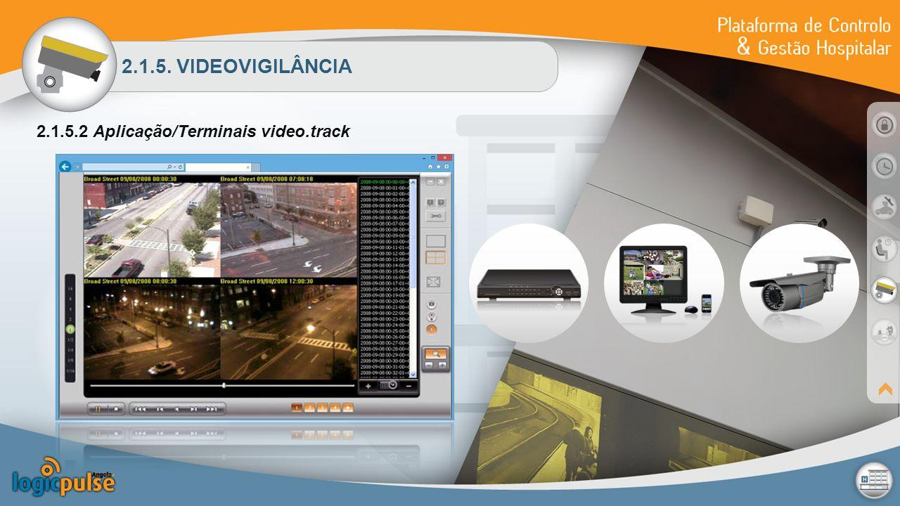 2.1.5. VIDEOVIGILÂNCIA 2.1.5.2 Aplicação/Terminais video.track