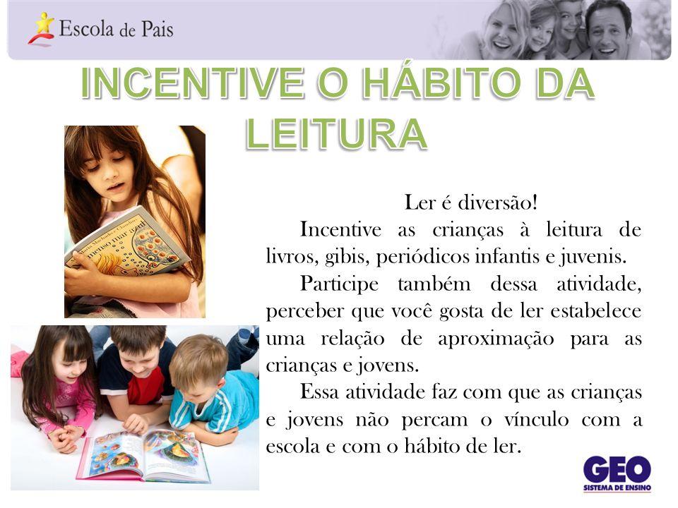 Incentive o hábito da leitura