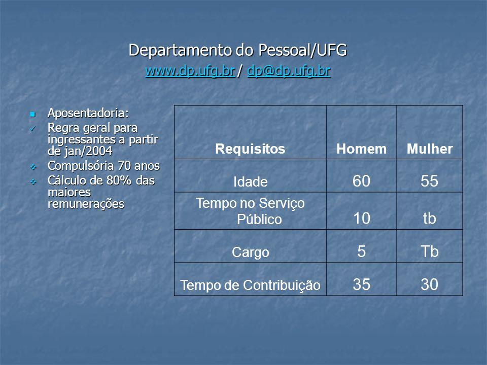 Departamento do Pessoal/UFG