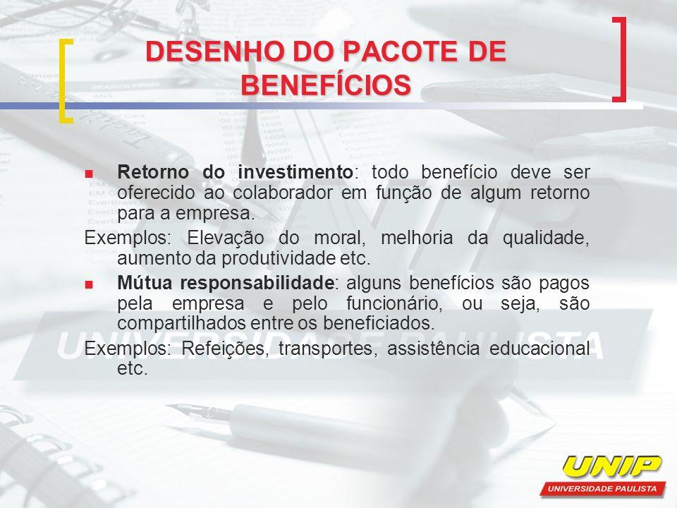 DESENHO DO PACOTE DE BENEFÍCIOS