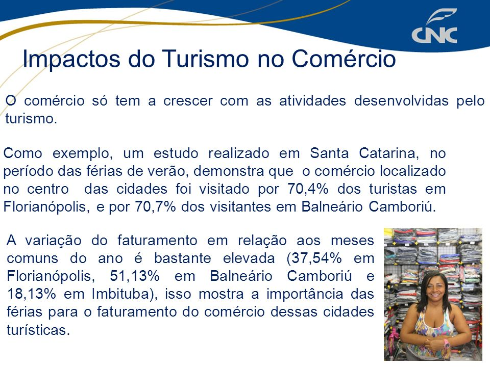 Impactos do Turismo no Comércio