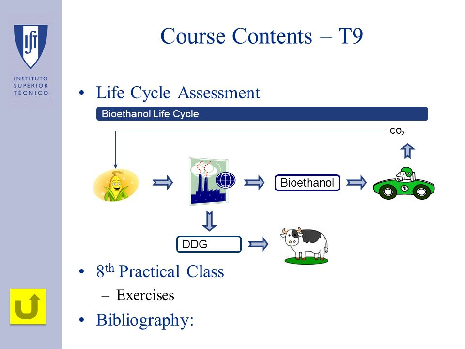 Course Contents – T9 Life Cycle Assessment 8th Practical Class