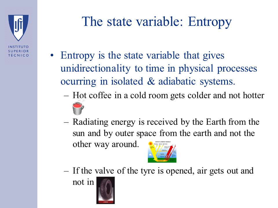 The state variable: Entropy