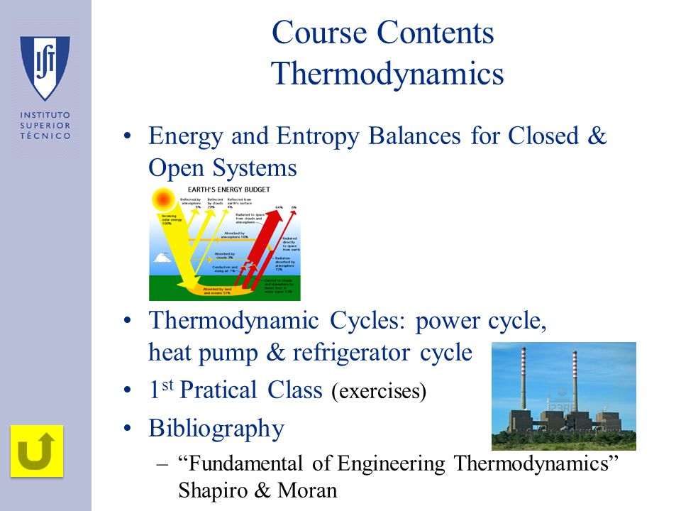 Course Contents Thermodynamics