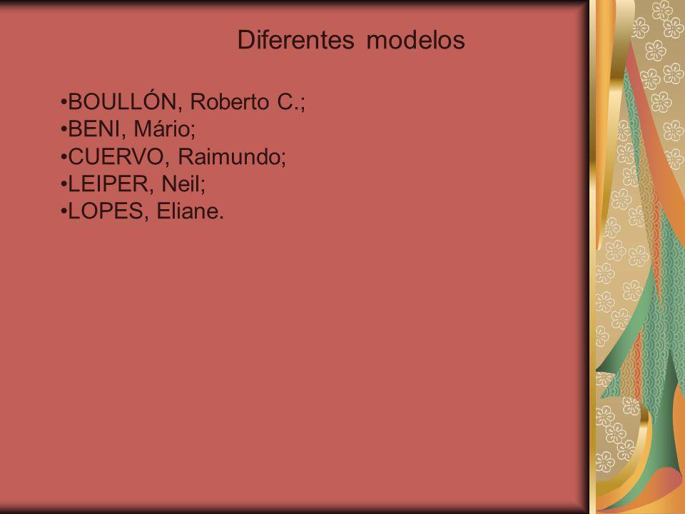 Diferentes modelos BOULLÓN, Roberto C.; BENI, Mário; CUERVO, Raimundo;