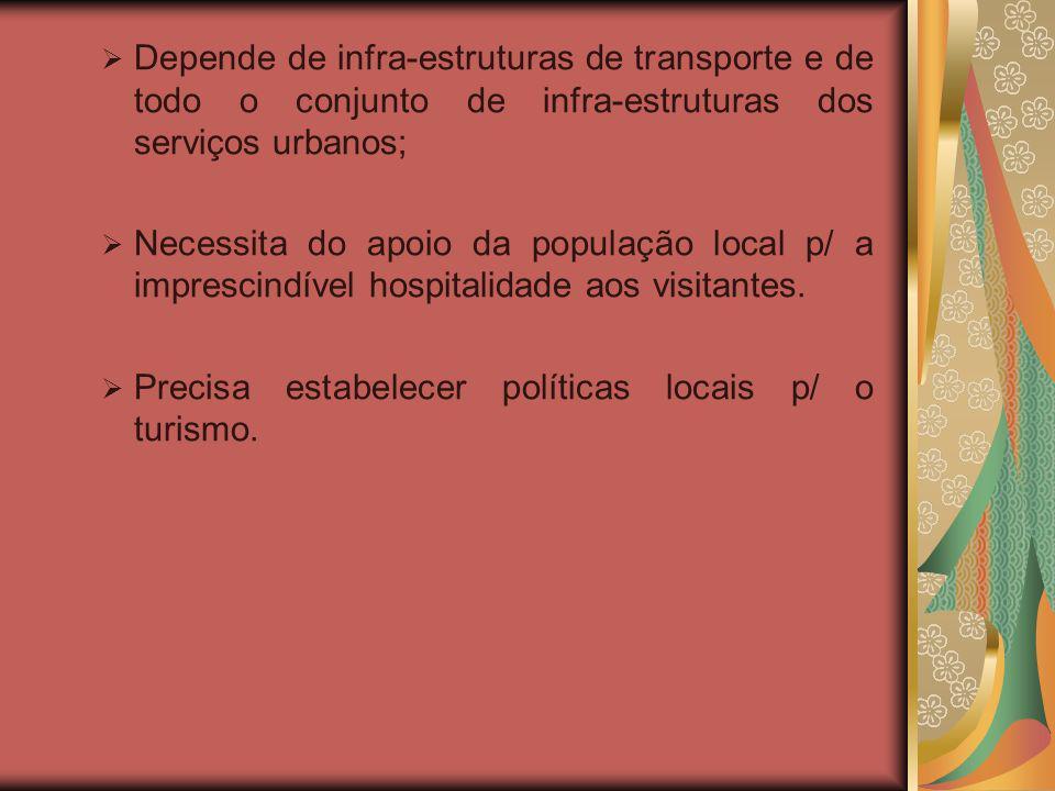 Depende de infra-estruturas de transporte e de todo o conjunto de infra-estruturas dos serviços urbanos;