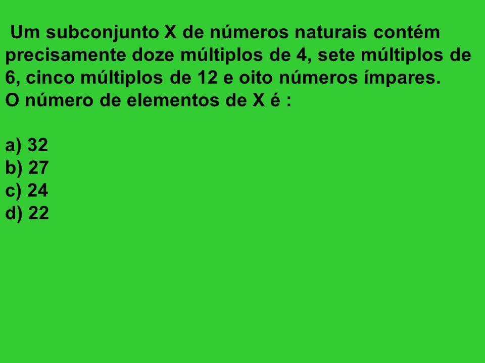 Um subconjunto X de números naturais contém