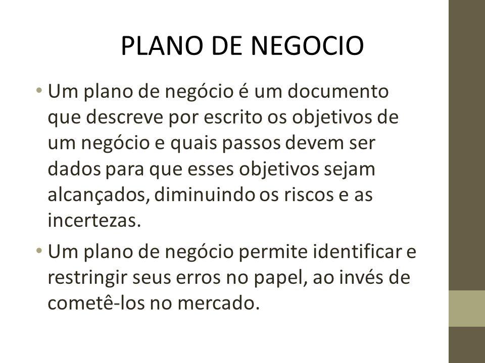 PLANO DE NEGOCIO