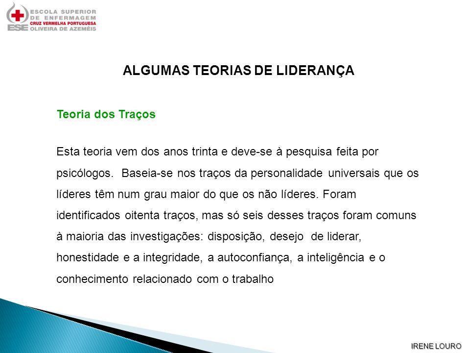 ALGUMAS TEORIAS DE LIDERANÇA