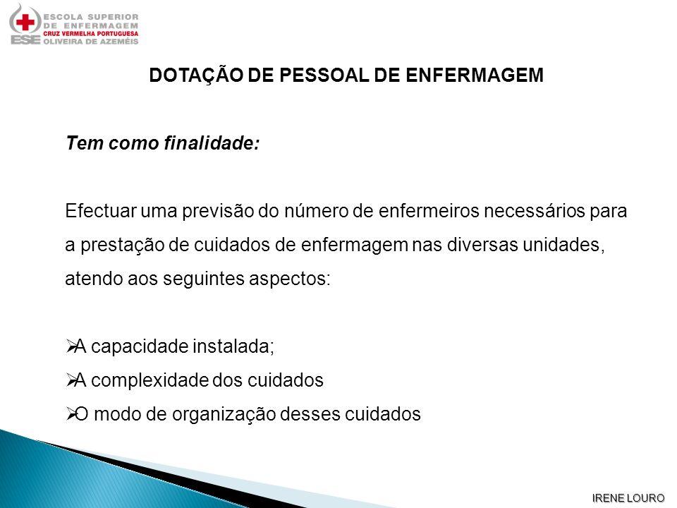 DOTAÇÃO DE PESSOAL DE ENFERMAGEM