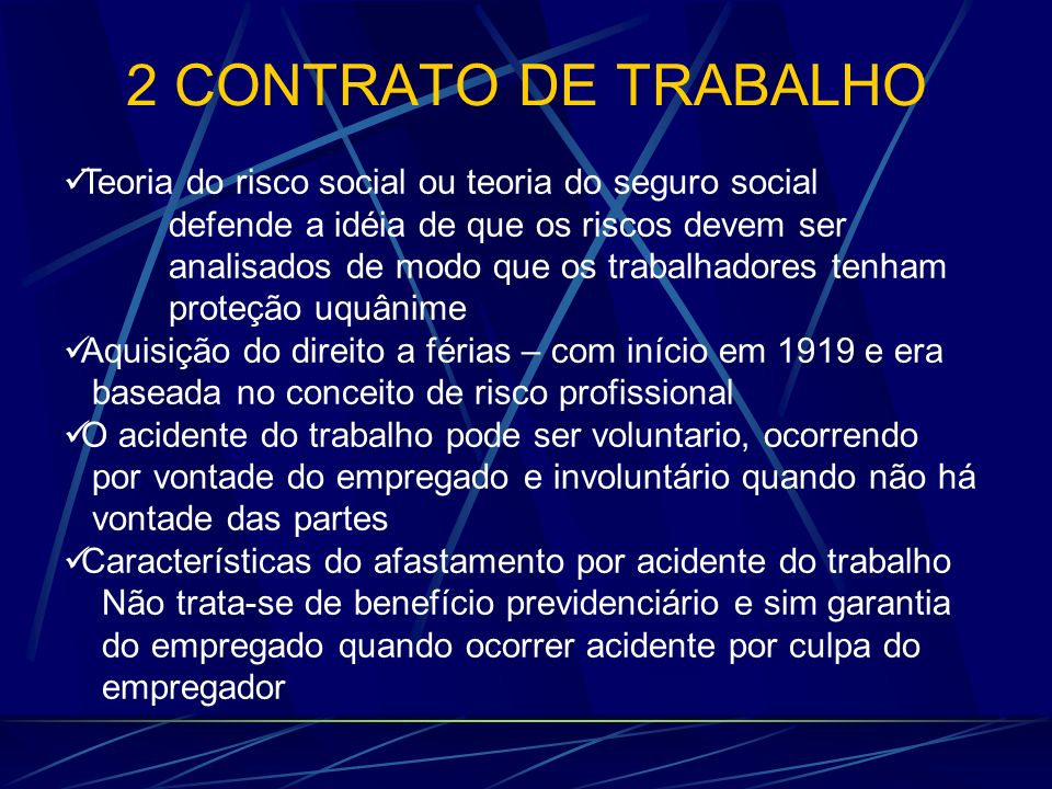 2 CONTRATO DE TRABALHO