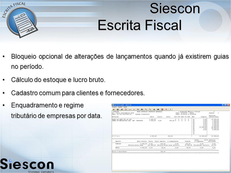 Siescon Escrita Fiscal
