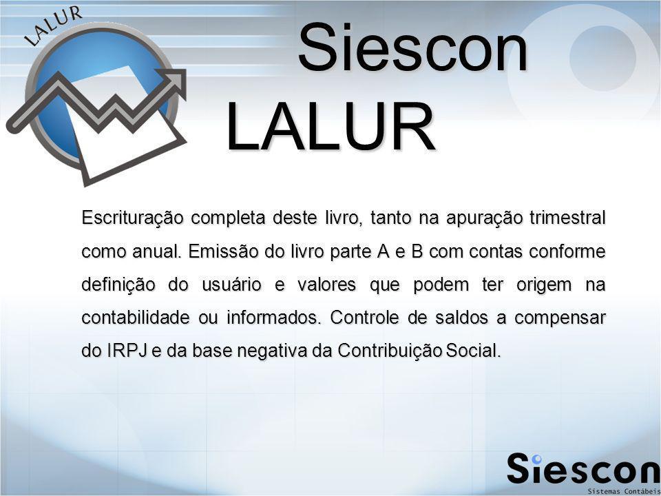 Siescon LALUR