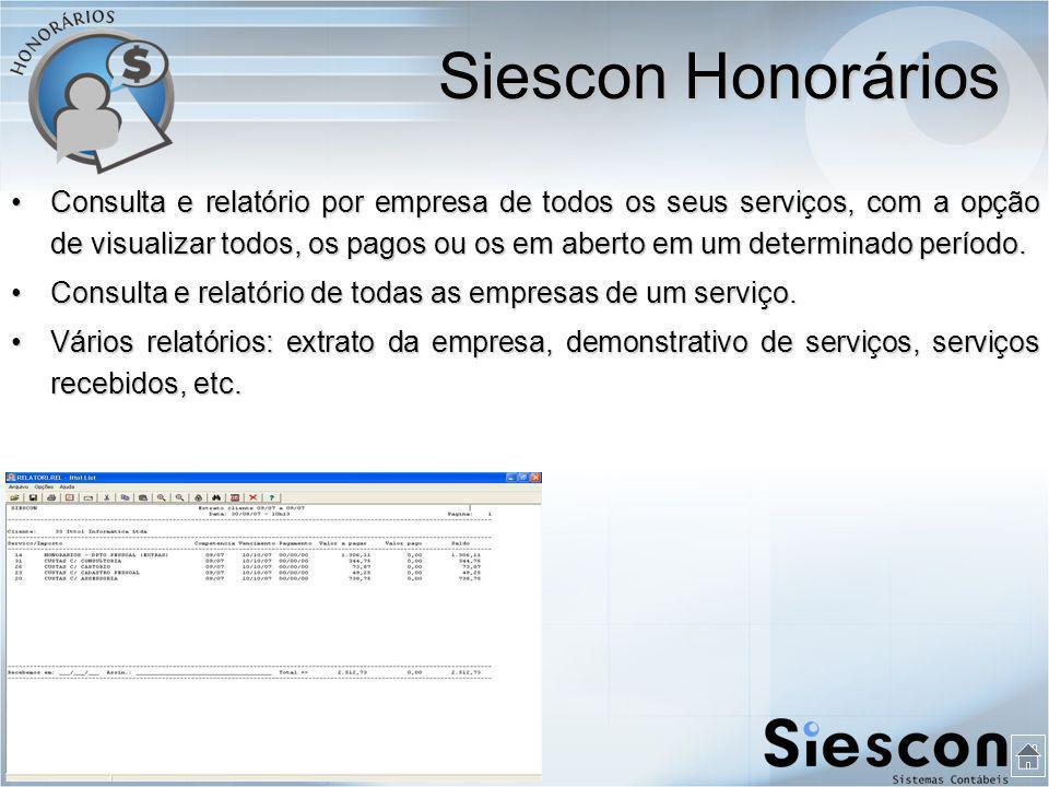 Siescon Honorários